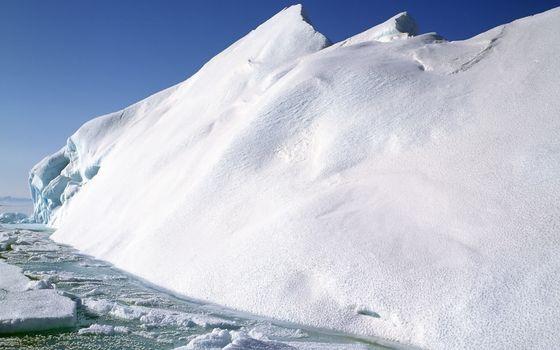 Фото бесплатно зима, вода, льдины