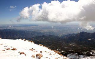Фото бесплатно небо, снег, камни