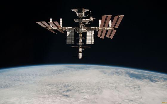 Фото бесплатно космическая станция, мкс, солнечные батареи