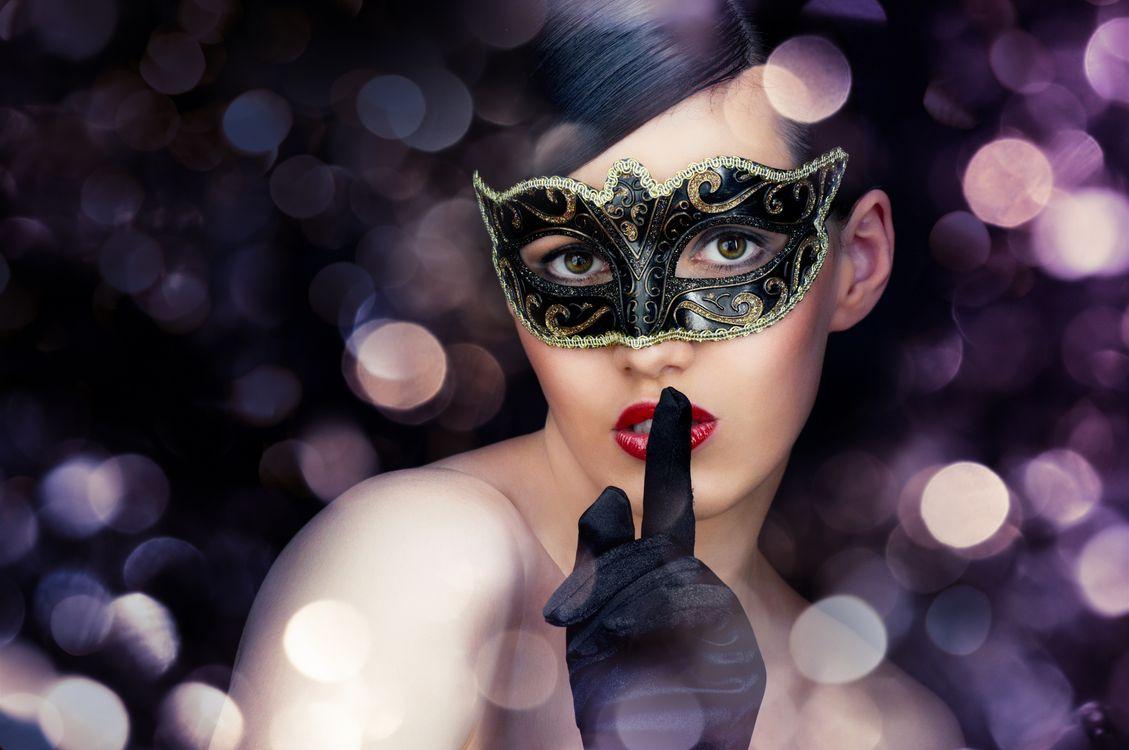 Фото макияж девушка Девушка в маске - бесплатные картинки на Fonwall