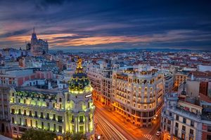 Заставки Мадрид, город, огни