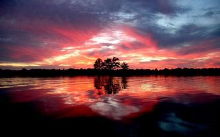 Фото бесплатно Красный, Берег, облака
