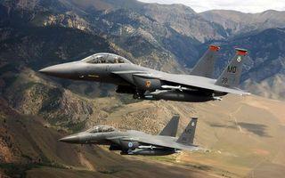 Фото бесплатно самолеты, истребители, кабины, пилоты, крылья, вооружение, полет, горы