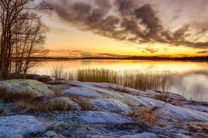 Бесплатные фото Карлстад, Вермланда, Швеция, Природа, Пейзаж, морской пейзаж, Закат солнца