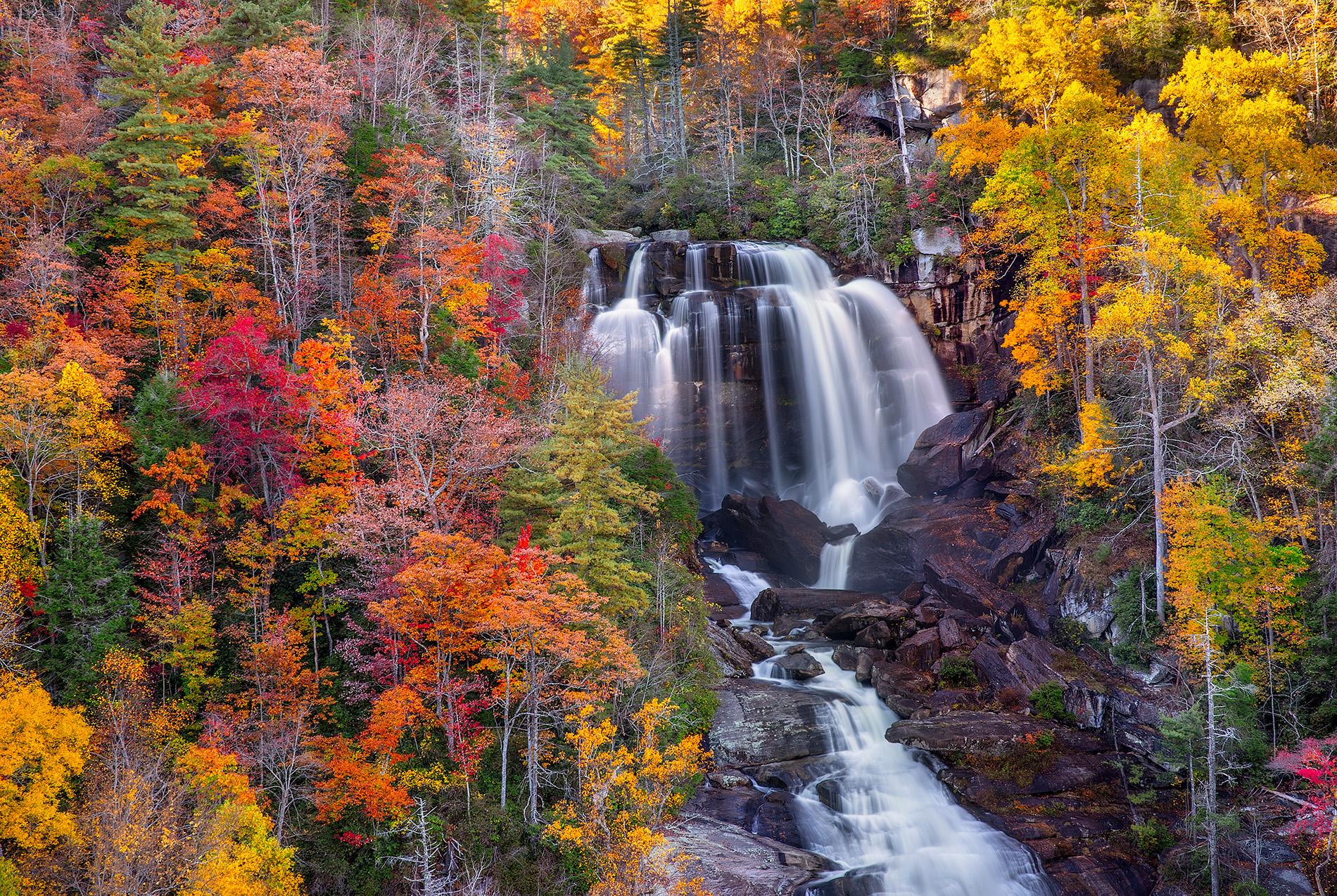 Северная Каролина, Водопады, осень