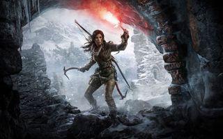 Фото бесплатно Rise of the Tomb Raider, Лара Крофт, факел