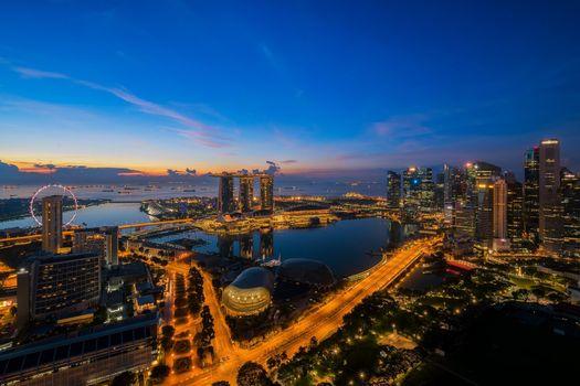 Заставки ночь, небоскребы, панорама