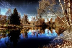 Photo free autumn, pond, trees