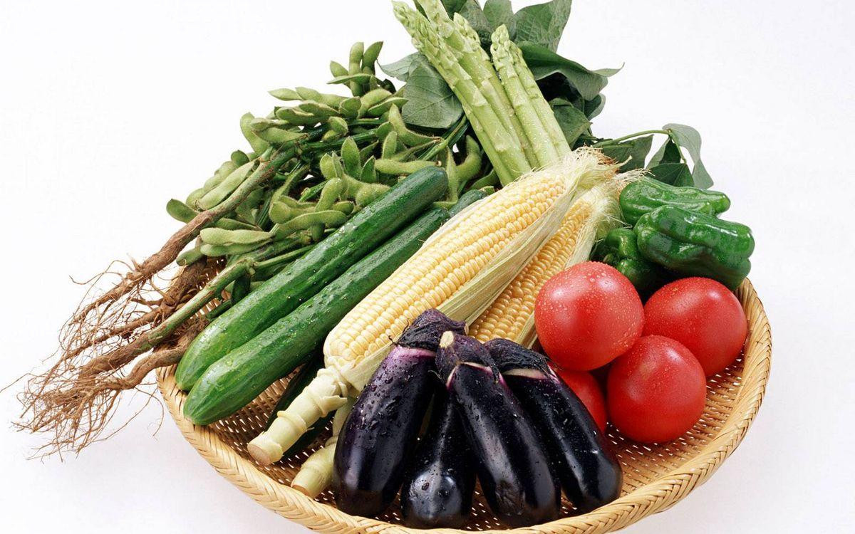 Фото бесплатно овощи, кукуруза, спаржа - на рабочий стол