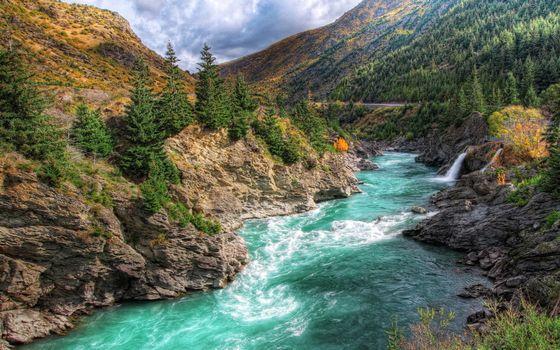 Фото бесплатно река, пороги, горы
