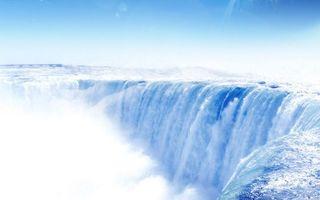 Фото бесплатно река, течение, обрыв