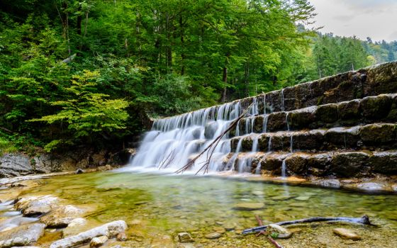 Photo free waterfall, rocks, river
