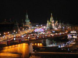 Фото бесплатно огни, россия, собор Василия Блаженного
