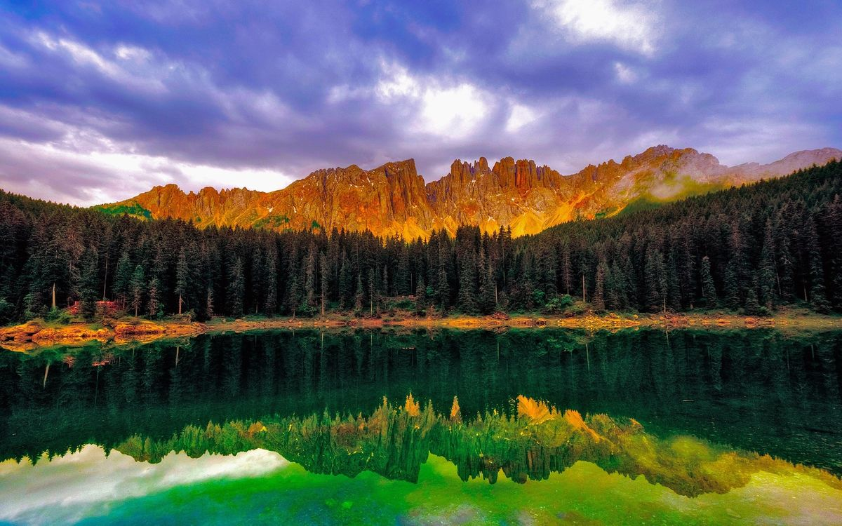 Фото бесплатно озеро, зеленое, гладь - на рабочий стол