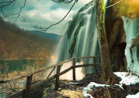 Бесплатные фото Plitvice Lakes National Park,Croatia,водопад
