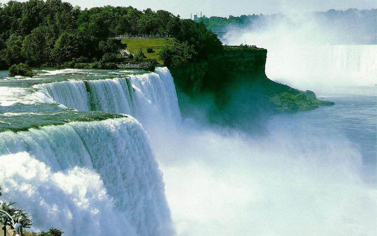 Фото бесплатно растительность, водопады, пропасти - на рабочий стол
