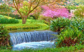 Фото бесплатно Сад Нинфа, центральная Италия, - это ландшафтный сад в Чистерна-ди-Латина