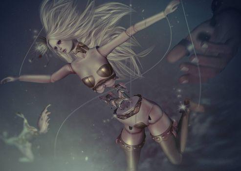 Фото бесплатно девушка, фантастическая девушка, фантастика