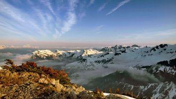 Бесплатные фото горы, скалы, облака, небо