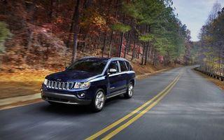 Заставки Jeep, трасса, загород, скорость, деревья