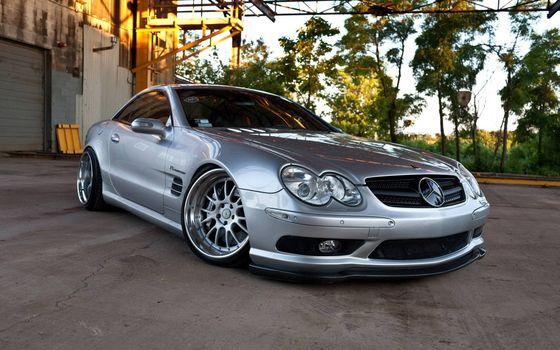 Photo free Mercedes, sports car, silver