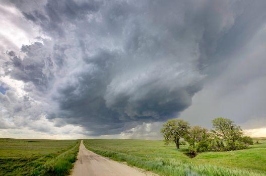 Фото бесплатно буря, поле, пейзаж
