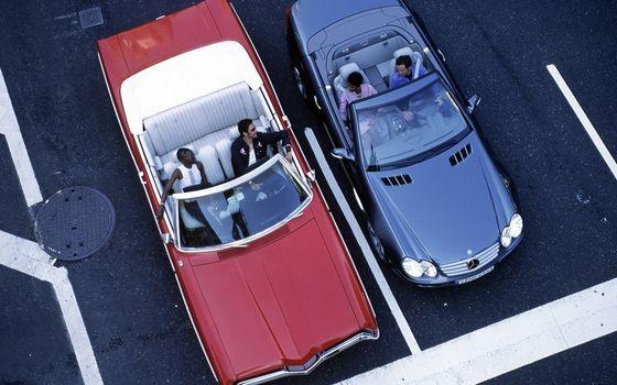 Фото бесплатно асфальт, разметка, кабриолеты