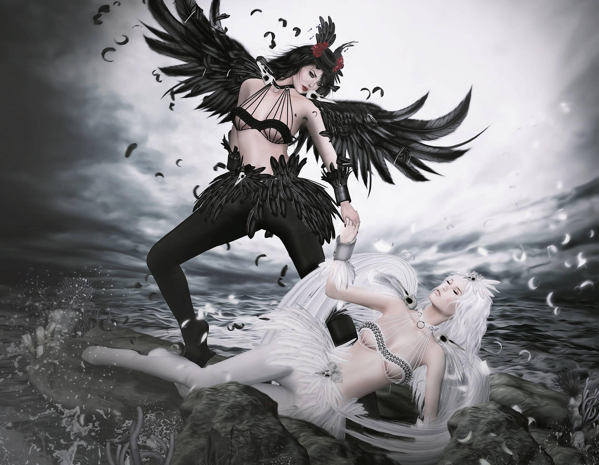 фантастическая девушка, девушка, ангелы