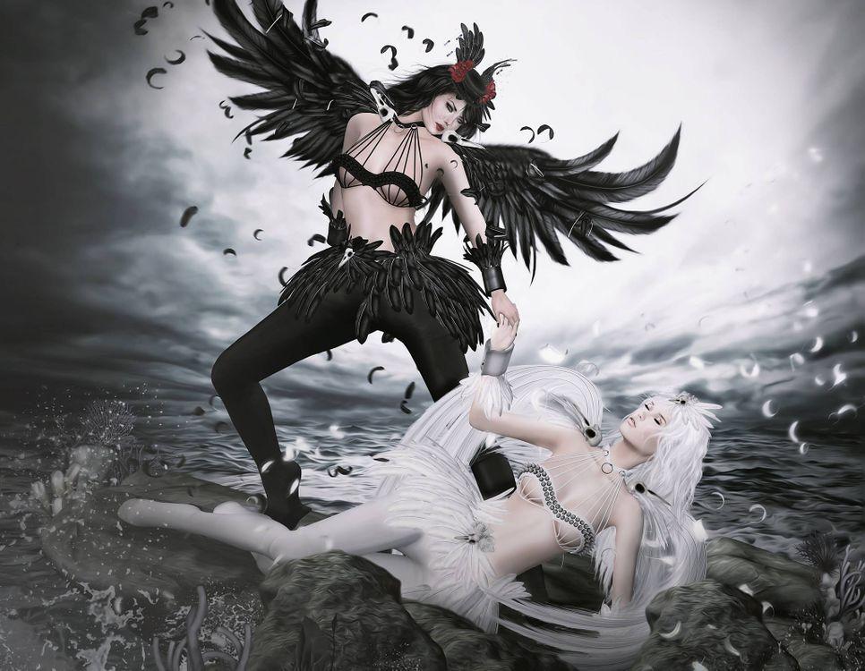 Фото бесплатно фантастическая девушка, девушка, ангелы, фэнтези, креатив, фантастика, art - на рабочий стол