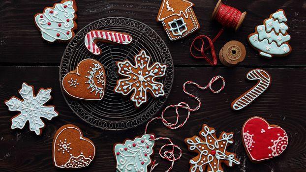 Фото бесплатно печенье, новый год