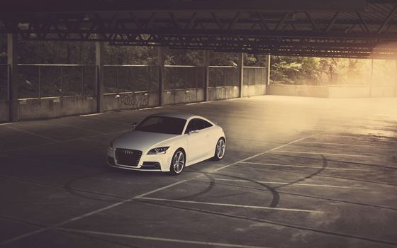 Photo free audi, white, lights