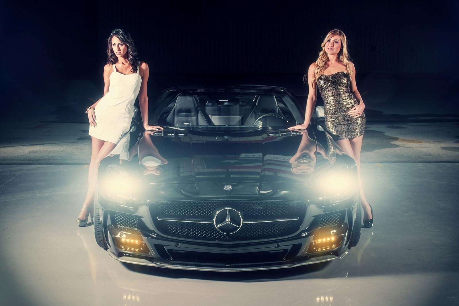 Обои Автомобиль, Машина, Мерседес, девушки
