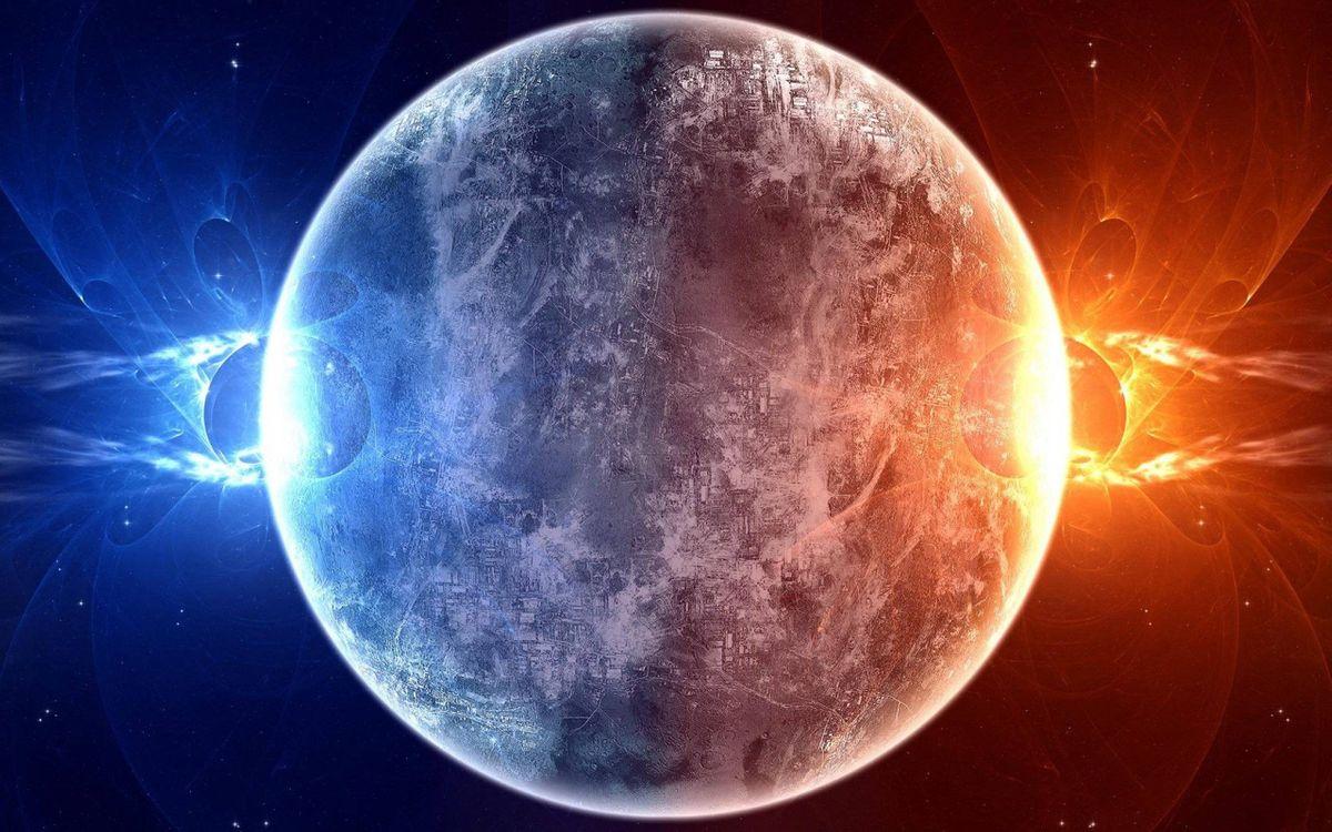 Фото бесплатно Луна, вспышки - на рабочий стол