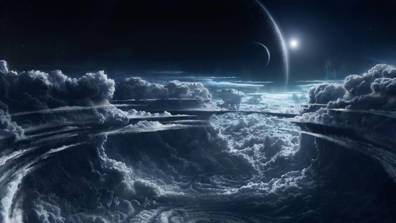 Фото бесплатно космос, планета, Необъятные просторы космоса - на рабочий стол