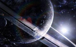 Бесплатные фото планета,кольцо,спутники,астероиды,звезда