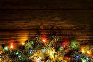 Фото бесплатно новый год, ёлка, гирлянды