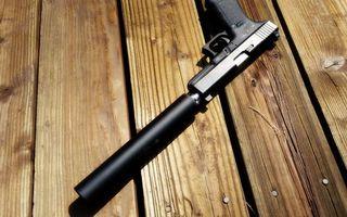 Фото бесплатно пистолет, ствол, глушитель