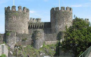 Фото бесплатно деревья, замок, мост