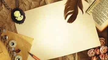 Бесплатные фото перо,лист бумаги,стол,старинная рукопись