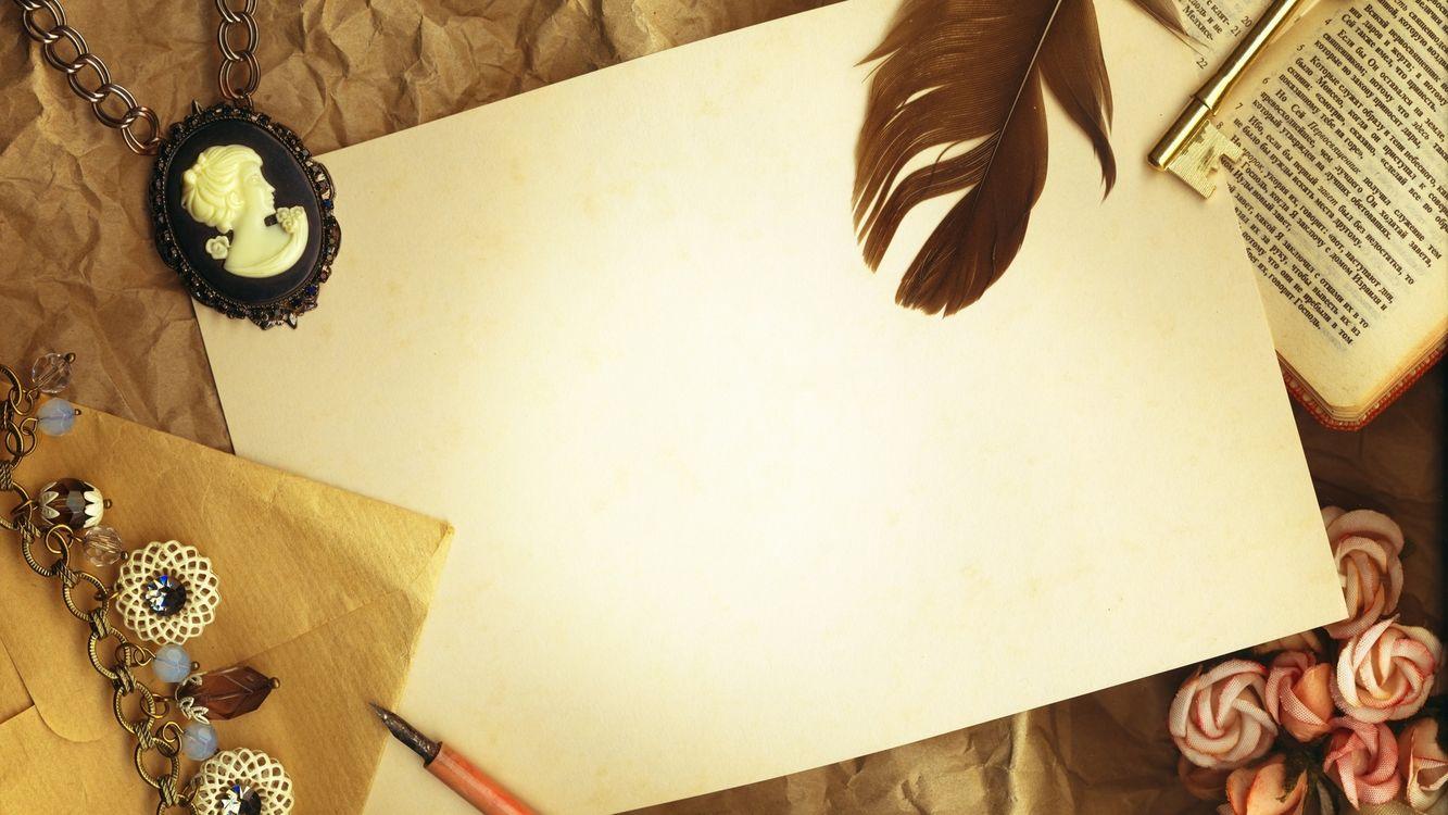 Фото бесплатно перо, лист бумаги, стол, старинная рукопись, разное