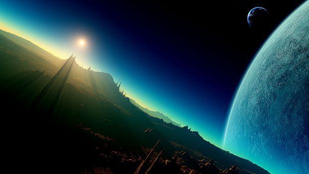 Бесплатные фото солнце,планеты,неизвестные миры