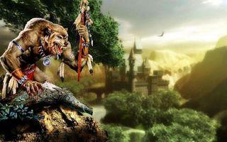 Фото бесплатно волк, вождь, шаман