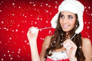 Фото бесплатно макияж, красота, снегурочка