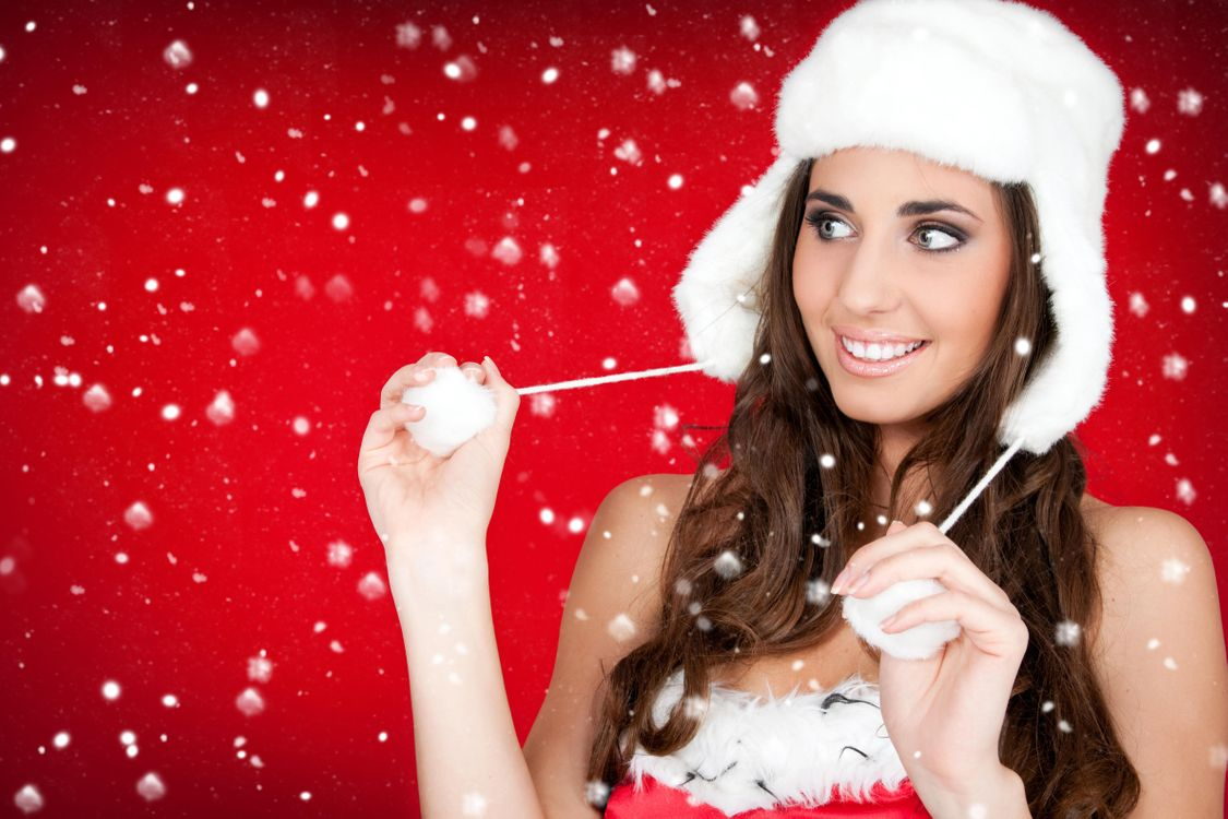 Фото бесплатно макияж, красота, снегурочка - на рабочий стол