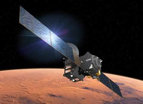 Бесплатные фото Марс,космос,Экзомарс,ЕКА,ESA,Роскосмос,космический аппарат,Трейс Гас Орбитер,ExoMars,Trace Gas Orbiter,ланета,звёзды