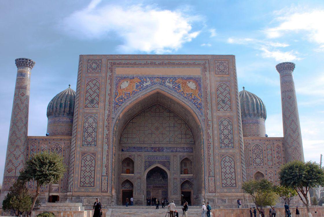 Фото бесплатно Узбекистан, Самарканд, Медресе Шердор, Амир Темур, город