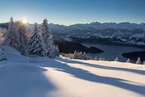 Фото бесплатно горы, Швейцария, сугробы