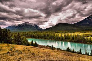 Photo free Banff national park Canadian Rockies, Alberta, Bow River