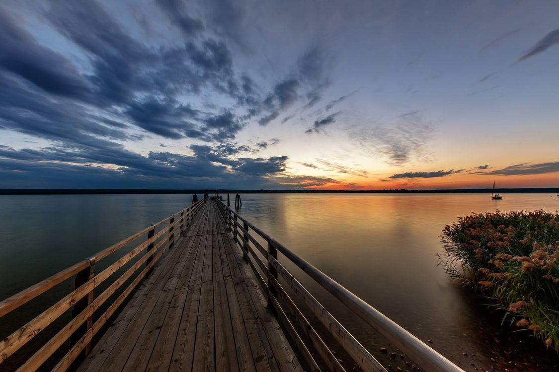 Фото бесплатно Lake Ammersee, Баварии, Германия, озеро Аммер, пейзажи