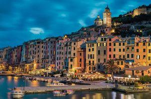 Бесплатные фото Порто Венере,расположен на Лигурийском побережье Италии в провинции Ла-Специя